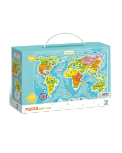 Puzzle DoDo D0097 Mapa del Mundo 100 piezas