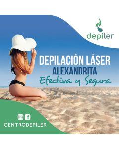 Pack 6 sesiones de depilación láser Alexandrita Pro en axilas + rebaje largo