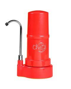 Purificador De Agua DVIGI Filtro Sobre Cubierta Mini Rojo