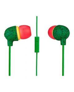 Audífonos Marley Little Bird con Micrófono In Ear Rasta
