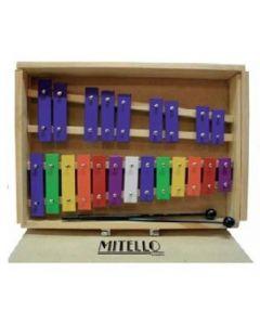 Metalófono Mitello Maleta Madera 22 Tonos Color