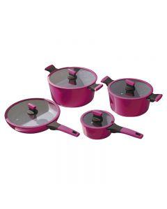 Batería De Cocina Kitchenware Soho 8 Piezas Cherry