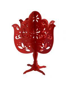 Porta Joyas Árbol Metal Importadora Usa - Rojo