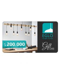 Gift Card $200.000 en Eglo iLuminacion