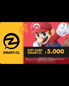 GiftCard $5.000 en Tiendas ZMART