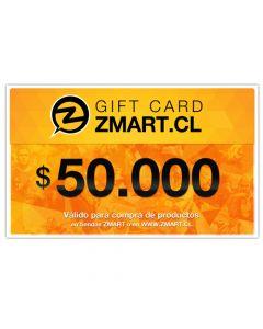 GiftCard $50.000 en Tiendas ZMART