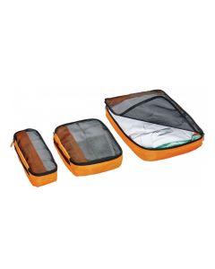 Organizador Cubos 3 Piezas Go Travel GT286 Naranjo