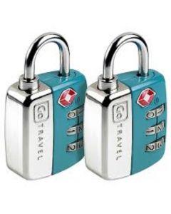 Pack 2 Candados Go Travel TSA con Clave Azul