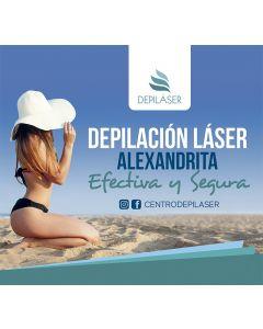 Pack 6 sesiones de depilación láser Alexandrita Pro en full Brazilian + zona a elección