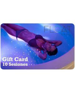 Gift Card 10 Sesiones de Flotación en Float Chile
