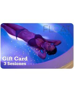Gift Card 3 Sesiones de Flotación en Float Chile