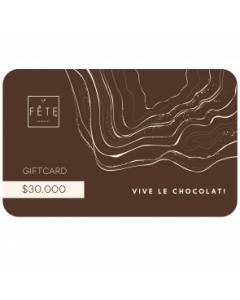 Gift Card $30.000 en tiendas La Fete