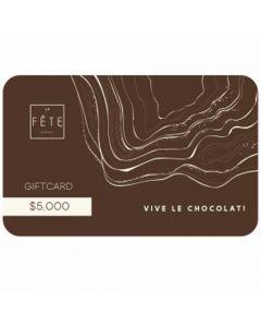 Gift Card $5.000 en tiendas La Fete