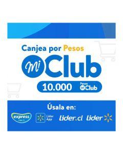 $10.000 Pesos Mi Club Lider