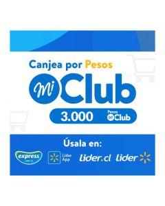 $3.000 Pesos Mi Club Lider