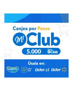 $5.000 Pesos Mi Club Lider