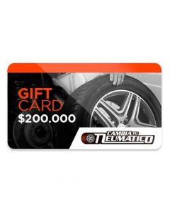 Gift Card $200.000 para usar en Cambiatuneumatico.com