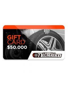 Gift Card $50.000 para usar en Cambiatuneumatico.com