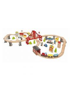 Mesa de Juegos Infantil Talbot XL Pista de Trenes HMET48