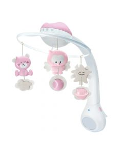 Movil Infantino 3-1 Proyector Rosa
