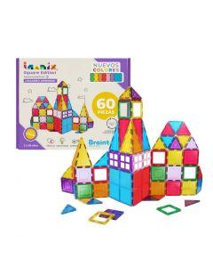 Juego Magnético Imanix Square Edition 60 Piezas