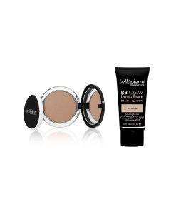 Kit Maquillaje Bellapierre Bb Cream + Iluminador Polvo