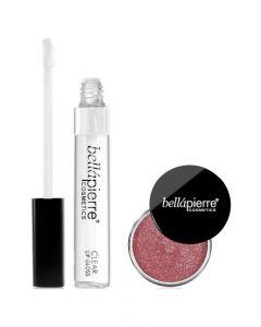Kit Maquillaje Bellapierre Clear lipgloss + Shimmer Redish