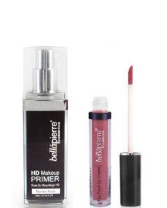 Kit  Maquillaje Bellapierre HD Primer + Kissproof Nude