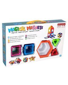 Juguete Magnético Magical Magnets M200 con ruedas 40 piezas
