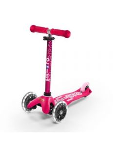 Scooter Infantil Micro Mini Deluxe LED Rosa