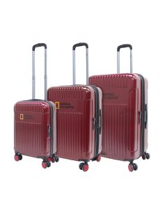 Set Maletas Transit National Geographic Rojo