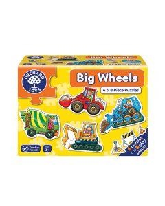 Mini Puzzles Orchard Toys Big Wheels 4 y 8 Piezas Amarillo