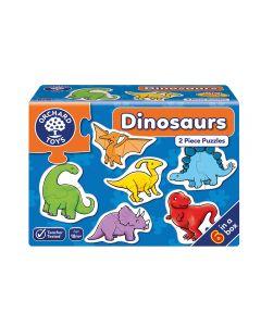 Mini Puzzles Orchard Toys Dinosaurios 6x2 Piezas Azul