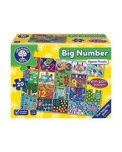 Puzzle Orchard Toys Números Grandes Amarillo