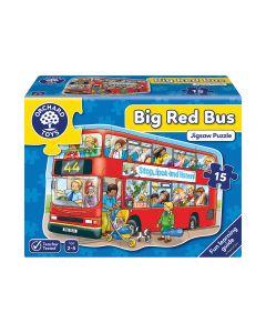Puzzle Orchard Toys Bus Rojo Grande 15 Piezas Rojo