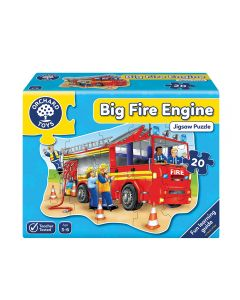 Puzzle Orchard Toys Gran Camión de Bomberos 20 Piezas Rojo