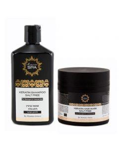 Shampoo y Máscara Moroccan Spa Keratina Cabello Dañado