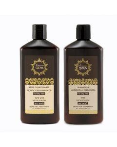 Pack Shamp.+Acond. Cabello Seco Moroccan  SPA Argan Oil