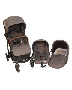 Coche Travel System Omega Bebeglo RS-13795-4 Gris