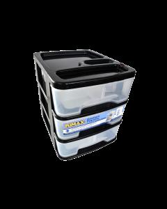 Caja Organizadora Pequeña 3 Cajones Rimax Negro