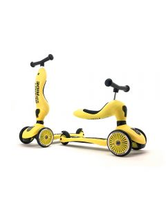 Scooter 2 en 1 Highwaykick 1 Scoot and Ride S218 Lemon