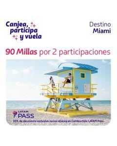 2 Ticket de participacion en sorteo de dos pasajes a Miami