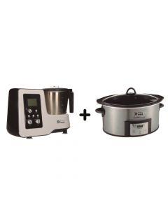 Pack EasyWays Robot de Cocina Kitchen Pro + Olla de Cocción lenta Dura Ceramic