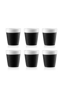 Set 6 Vasos Bodum Espresso Porcelana Blanca 170cc