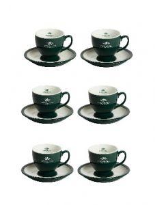 Tazas Ahmad Tea Juego De 6 Tazas Y Platillos verde