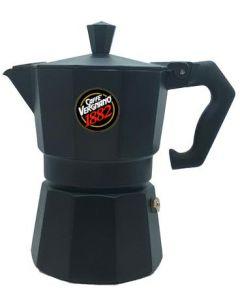 Cafetera Moka Vergnano Premium Aluminio Negra 3 Tazas