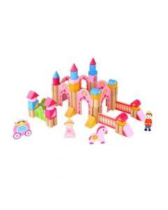 Juego Bloques Castillo de Madera Tooky Toy Princess TKC555