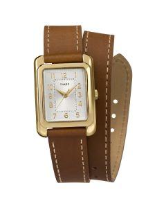 Reloj Análogo Mujer Timex TW2R89900 Pulsera de Cuero Café