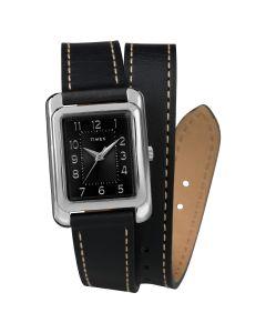 Reloj Análogo Mujer Timex TW2R90000 Pulsera de Cuero Negro