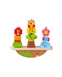 Juguete de Madera Tooky Toy Balancin de Animales TY278